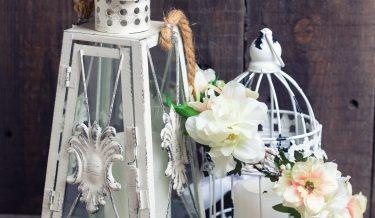 Lampiony dekoracyjne, klatki ozdobne