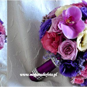 kolorowy-bukiet-ślubny