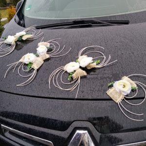 dekoracj-auta-na-ślub